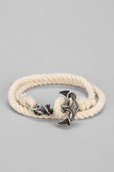 Nautical Rope Anchor Bracelet #urbanoutfitters