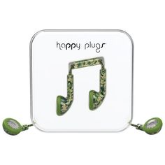 Happy Plugs In-Ear Headphones with Mic - Camouflage Headphone With Mic, In Ear Headphones, Camouflage, Plugs, Cool Things To Buy, Happy, Christmas, Camo, Cool Stuff To Buy