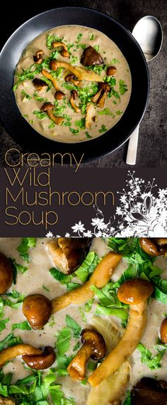 Using frozen mushrooms brings the wonderful autumnal flavours in this cream of wild mushroom soup within reach of every home cook! Best Soup Recipes, Vegetable Soup Recipes, Chowder Recipes, Healthy Soup Recipes, Chili Recipes, Vegetarian Recipes, Veggie Food, Mushroom Recipes, Lunch Recipes