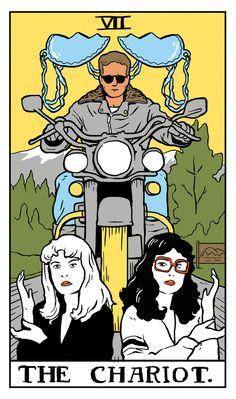 Twin Peaks Tarot, 22 Majors by Benjamin Mackey - If you love Tarot, visit me at www.WhiteRabbitTarot.com