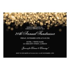 Simply Sparkles  Corporate Event Invitations In Black  Wiley