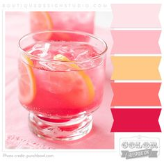 pink, peach and orange color palette. Photo credit punchbowl.com