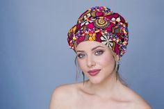 335-03 Wax africain Turban imprimé redoute Wrap, tête noire en or rouge Wrap, alopécie foulard, chapeau de chimio, Boho Gypsy Tribal, une seule pièce Wrap
