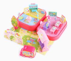 My Melody Mini Town Playset: Kindergarten Pop Figurine, Art Activities For Kids, Polly Pocket, Mini Things, Luxury Holidays, Cute Toys, Sanrio, Holiday Gifts, Kindergarten