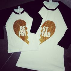 Best Friends Shirt. Several colors & sizes by GraceMadisonDesigns We LOVE our BFF shirts! Can't wait to rock these! The fit is AMAZING! Now...for the red with silver print!