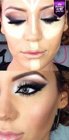 Estas son las zonas en las que debes aplicar corrector para darle luz a tu rostro. #cute #loveIt #PrincesasDe40