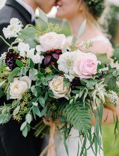 indie glam rose bouquet