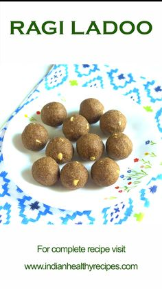 Ragi ladoo or nachni ladoo are nutritious & delicious sweet balls made of finger millet flour, ghee, jaggery, seeds and nuts. Indian Dessert Recipes, Sweets Recipes, Baby Food Recipes, Snack Recipes, Cooking Recipes, Cooking Tips, Weight Loss Meals, Ragi Recipes, Jaggery Recipes