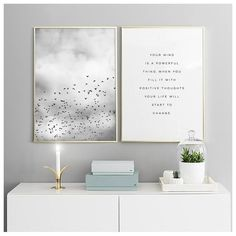 """Your mind is a powerful thing"" Check out our perfect pair category to get inspired for your gallery wall Mix and match your favorite posters and rock your walls, visit desenio.com and shop til you drop! #desenio #svartvitatavlor #svartvitaposters #sortoghvideplakater #svarthvittplakater #svartoghvittplakater #mustavalkoisettaulut #mustavalkoisetjulisteet #blackandwhiteposters #blackandwhitepaintings #schwarzweissposter #zwartwitschilderijen #zwartwitposters"