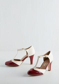 Vivacious Vibes Heel in Crimson   Mod Retro Vintage Heels   ModCloth.com