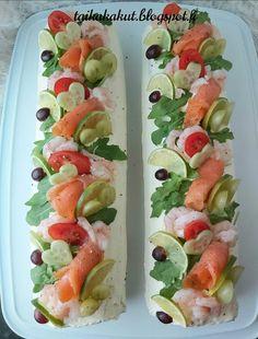 Tarun Taikakakut: Voileipäkakkurulla / Voileipäkääretorttu kylmäsavulohesta Fresh Rolls, Sushi, Ethnic Recipes, Food, Essen, Meals, Yemek, Eten, Sushi Rolls