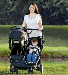 BRitax B-agile double stroller red - Growing Your Baby