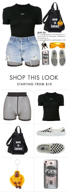 """PASSIONFRUIT "" by queenbrittani ❤ liked on Polyvore featuring Bitching & Junkfood, Off-White, Loewe, Vans, Michael Kors, Kipling and Casetify"