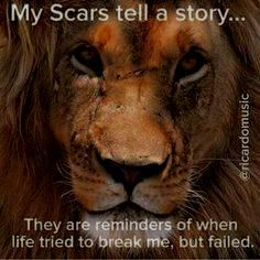 My #scars tell a #story... they are reminders of when life…