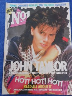 JOHN TAYLOR ON COVER , HOT  PIN-UP ,OLD MAGAZINE  FROM THE 80's
