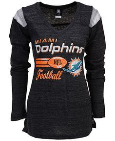Men's Miami Dolphins Majestic Navy Blue Marled Long Sleeve T-Shirt