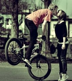 creative photography....kiss from bicycle- I'm definitely a romantic at heart!!!