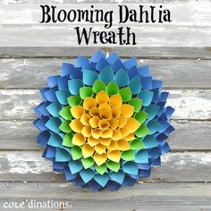 Blooming Dahlia Wreath : Core'dinations ColorCore Cardstock® | Scrapbook Cardstock Paper, Projects, Tips, Techniques and More!