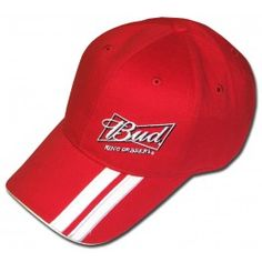 Here is an offically licensed Nascar hat! This bright red hat shows the  Budweiser King c221ab6ca584