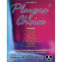Check out the Players' Choice - Volume 91 Availible at Carlingford Music Centre Long Books, Online Music Stores, Jazz, Centre, Play, Products, Check, Jazz Music, Gadget