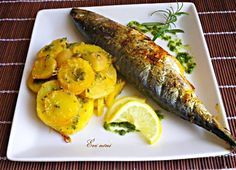 Grillezett makréla Fish Recipes, Pesto, Zucchini, Turkey, Vegetables, Food, Turkey Country, Essen, Vegetable Recipes
