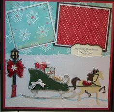 Bug Junkie: All Hearts Come Home for Christmas - Layout with Lots of Cricut Cuts