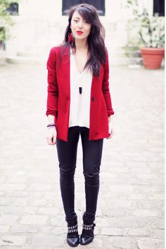 Zara boots and blazer