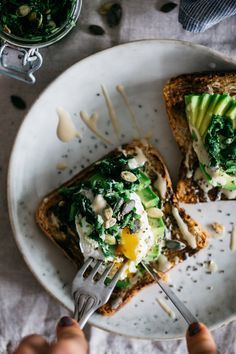 Superfood Kale Tapenade, Avocado and Egg Toast