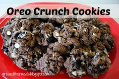 These cookies are super chocolatey - they taste like brownies with Oreos in them!! I brought them to a reunion dinner & they went FAS...