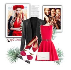 """Simpledress2"" by gold-phoenix ❤ liked on Polyvore featuring Wet Seal, Style & Co., Agave and vintage"