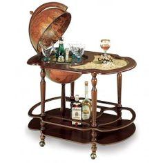 Large bar globe with classic Zoffoli design complete with drinks cabinet. Globe Drinks Cabinet, Globe Bar, World Globes, Bottle Holders, Bar Cart, Interior, Furniture, Design, Home