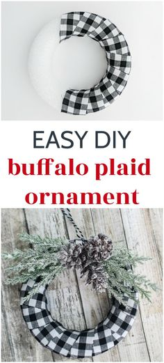 and Easy Buffalo Plaid Christmas Ornament - Lovely Etc. : This DIY buffalo. Quick and Easy Buffalo Plaid Christmas Ornament - Lovely Etc. : This DIY buffalo.,Quick and Easy Buffalo Plaid Christmas Ornament - Lovely Etc. Buffalo Plaid Christmas Ornaments, Christmas Ornament Crafts, Christmas Tree Themes, Decorating For Christmas, Easy To Make Christmas Ornaments, Diy Christmas Tree Garland, Buffalo Check Christmas Decor, Christmas Ideas, Outside Christmas Decorations