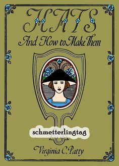 1925 Millinery Book Flapper Hat Making Make by schmetterlingtag, $18.99