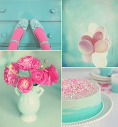 pink and aqua! my absolute two favorite colors together... except those shoes with socks.. no.. just no.