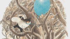 Een verhaal over Uil die een mooie blauwe ballon in zijn boom vindt. De ballon gaat kapot, maar Uil gelooft dat de ballon weer teruggroeit volgend jaar. Net als de herfstbladeren.