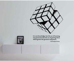 Rubiks Cube Kids Wall Decals Rubiks Cube Wall Art Design, Kids ...