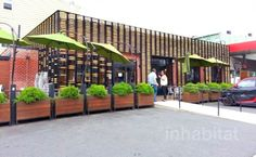 Breadbox Cafe Boasts a Facade of 1,600 Rolling Pins in Long Island City, Queens | Inhabitat New York City