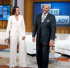 #FirstLady Of The United States  #MichelleObama & Steve Harvey