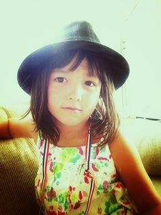 "My girl, wearing my boyfriend's hat. #Hipster ""Kid"