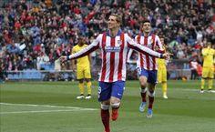 Fernando Torres celebrando su tanto. Gran cabezado