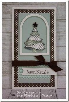 Card Natale con timbri Florilèges Design