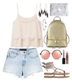 """Coachella "" by thesupermia ❤ liked on Polyvore featuring Alexander Wang, MANGO, Matthew Williamson, Michael Kors, Charlotte Russe, Maybelline and Bling Jewelry"