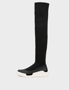 DKNY Runway Rowan Over The Knee Sock Sneaker. #dkny #shoes #