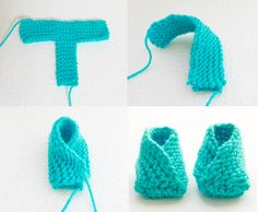 Crochet Baby Booties The baby booties knitting pattern by Gina Michele is a great beginner project and fast to make. - The baby booties knitting pattern by Gina Michele is a great beginner project and fast to make. Knitted Baby Boots, Baby Booties Knitting Pattern, Knitted Booties, Crochet Baby Booties, Baby Knitting Patterns, Knitting Socks, Free Knitting, Baby Bootees, Knit Baby Shoes