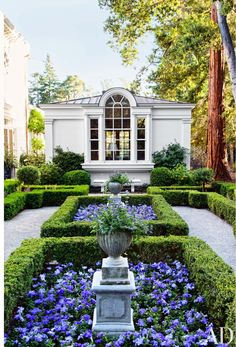Traditional Garden by Miles Redd and Charlie Barnett in California