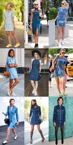 Pamella Ferrari - Digital Content Creator - Be Brave, Be Yourself Jean Dress Outfits, V Dress, Denim Outfit, Jeans Dress, Denim Fashion, Fashion Pants, Fashion Outfits, Cute Casual Outfits, Chic Outfits