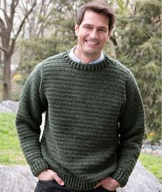 Father Pullover Crochet Pattern | Red Heart