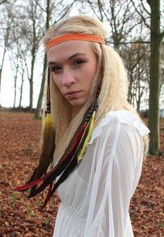 Festival feather headband