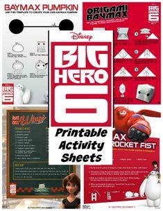 Big Hero 6 FREE Printable Activity Sheets