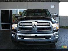 Dodge Ram lifted black truck